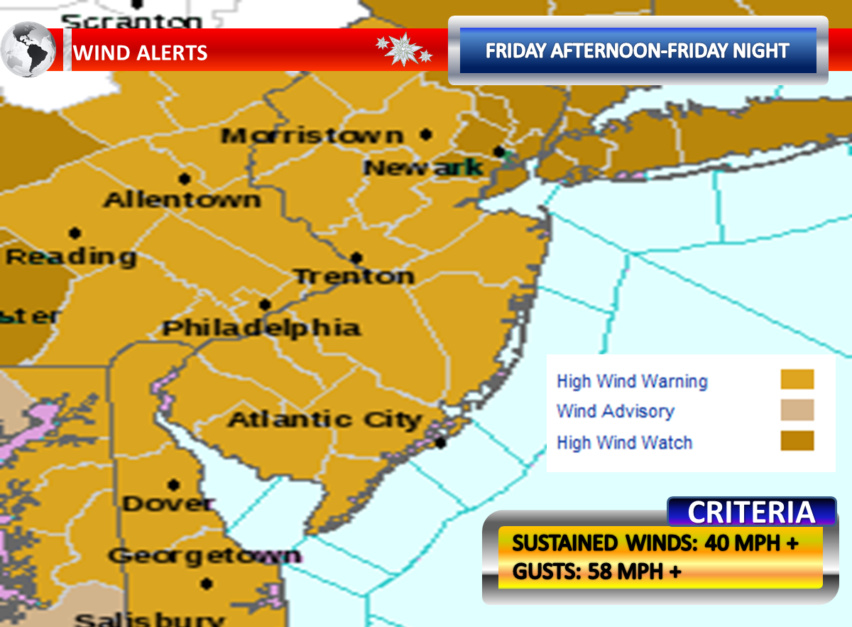 the national weather service has placed the region under a high wind warning for friday afternoon and friday evening a high wind warning is not issued to