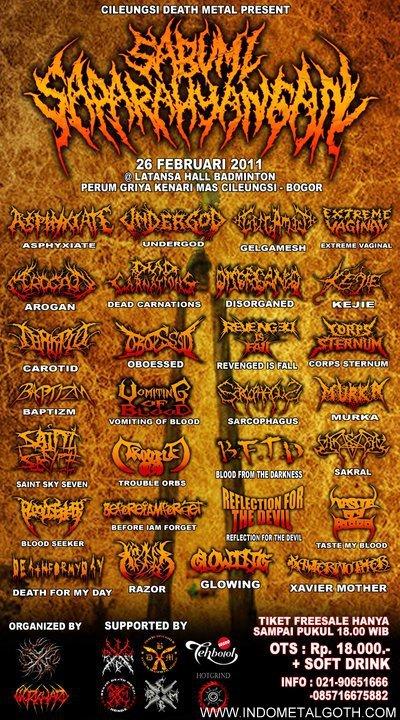 Cileungsi death metal present Sabumi saparahyangan