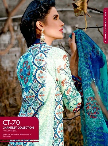 Premium Embroidered Chiffon Collection 2014 by Gul Ahmed
