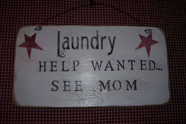 """Laundry Help Wanted...See Mom  6""""x18"""""""