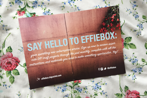 a monthly subscription box for diy and crafting projects effie box