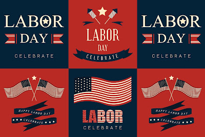 Quilt of Celebrate Labor Day salutations
