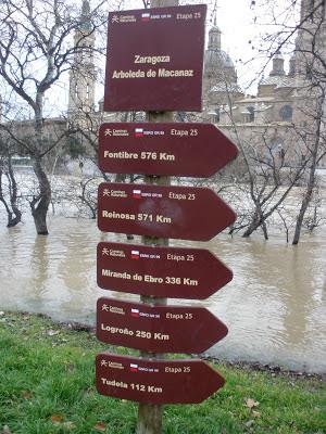 poste GR 99 Zaragoza distancia Fontibre Tudela Reinosa Miranda de Ebro Logroño