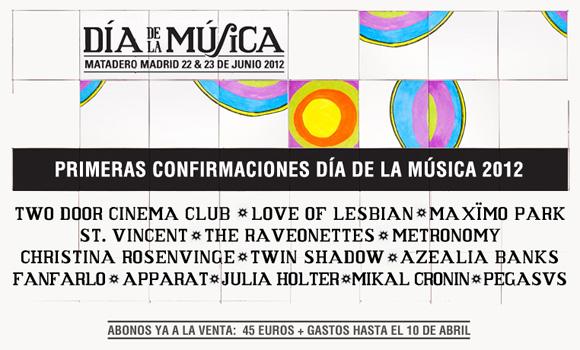 Primeras confirmaciones del Día de la Música 2012