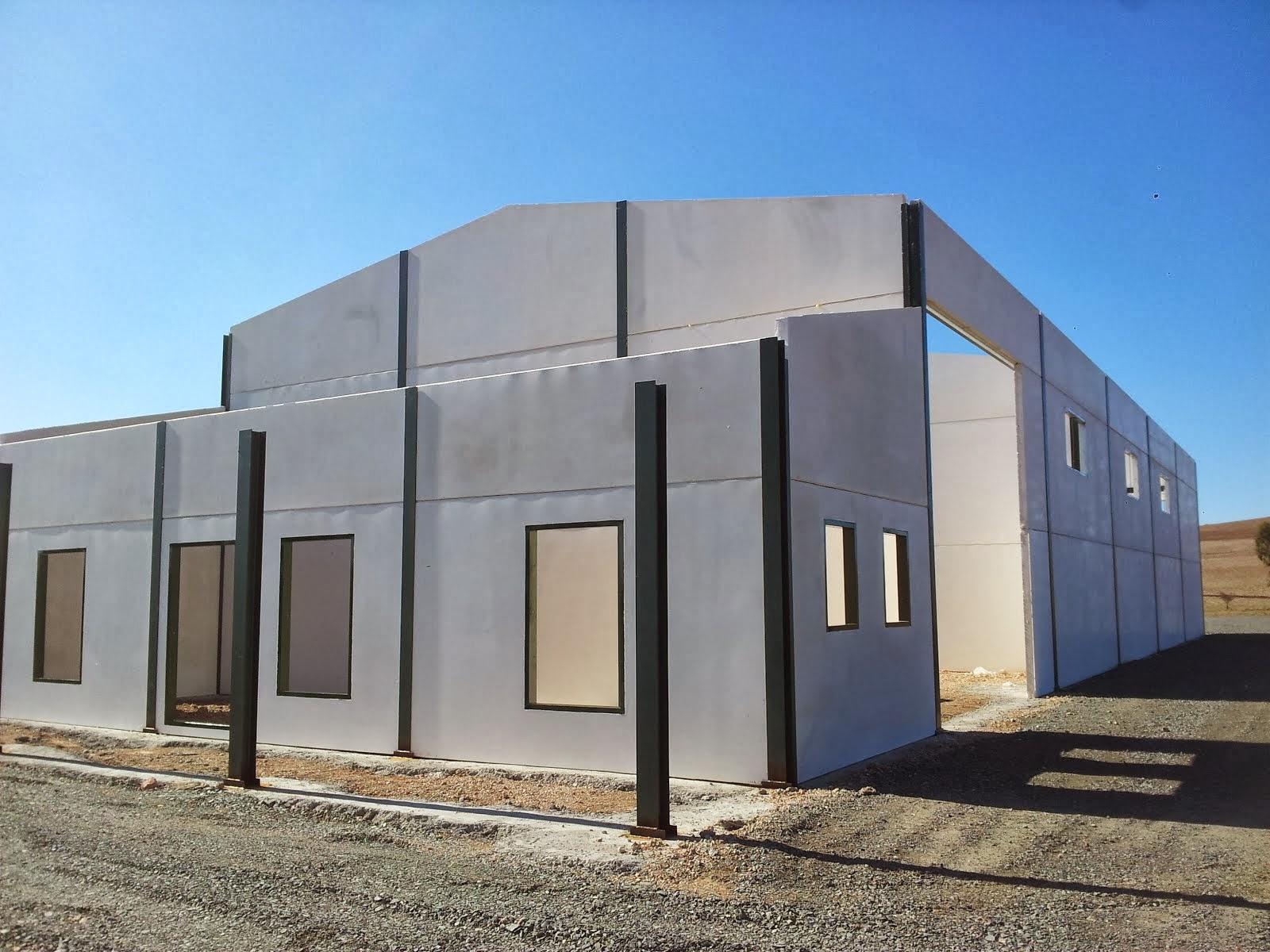 Paneles prefabricados de hormigon para naves materiales - Materiales de construccion para fachadas ...