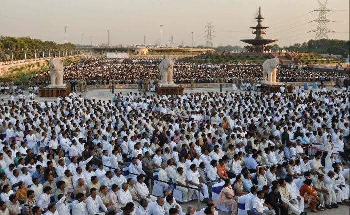 Rashtriya Dalit Prerna Sthal, Noida Inauguration Ceremony attended by over 40,000 people