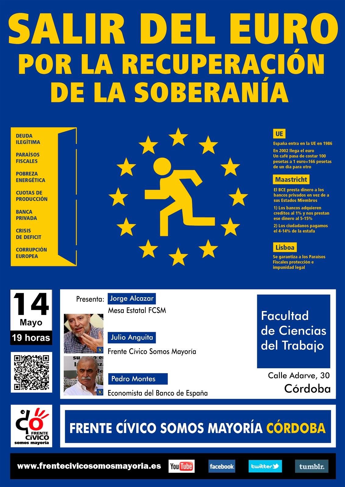 """Campaña """" Salir del Euro""""·"""
