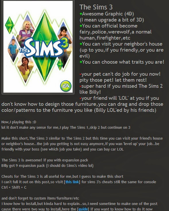 how to write reports in sims 3