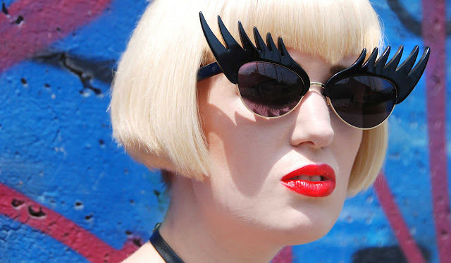 Tatty Devine, eyelash sunglasses, sunglasses