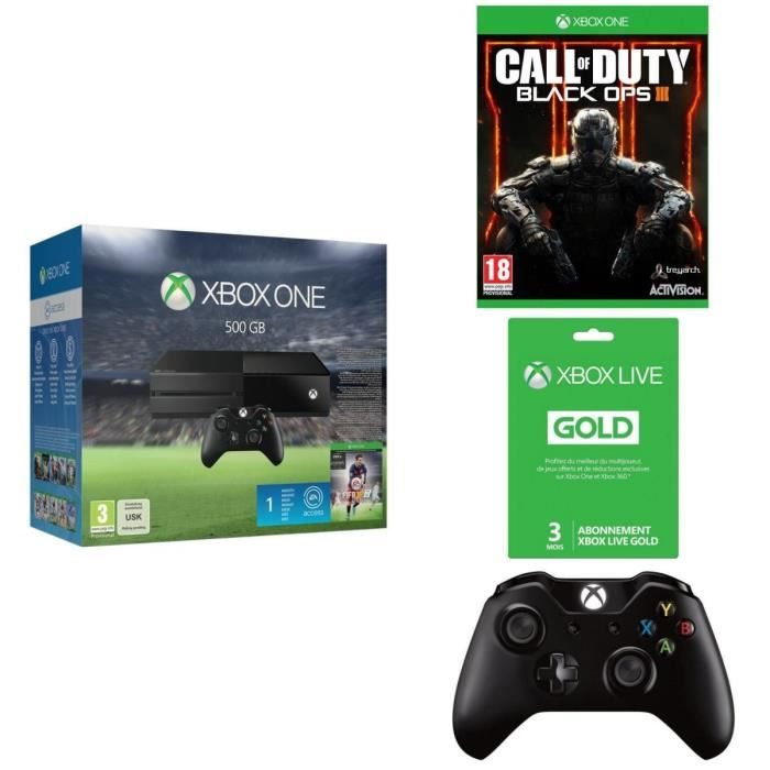 Black friday xbox one 500go fifa 16 call of duty for Manette xbox one elite black friday