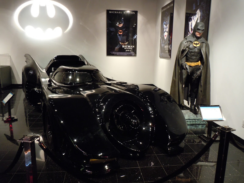 Batman costume and 1989 Batmobile display