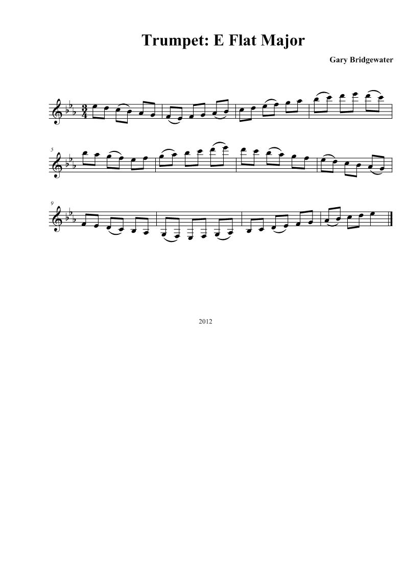 b Flat Major Scale Trumpet Trumpet e Flat Major