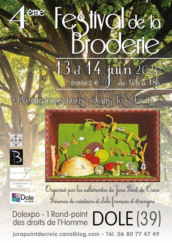 Festival de la broderie REPORTE LES 5 et 6 juin 2021
