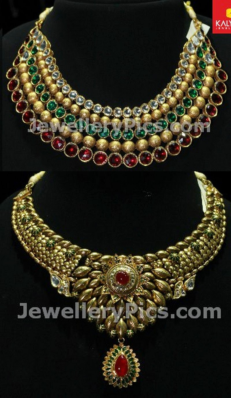 2014 gold necklace designs by kalyan jewellers