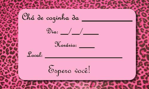 Convite Ch   De Cozinha   Panela   Fundo On  A Rosa
