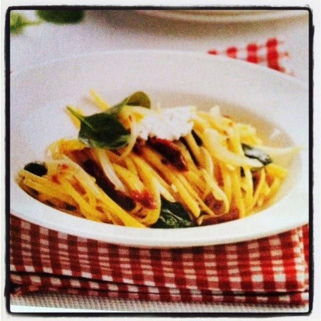 spaghetti di gragnano con pomodori secchi