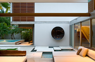 Water features Contemporary Tropical Home Design