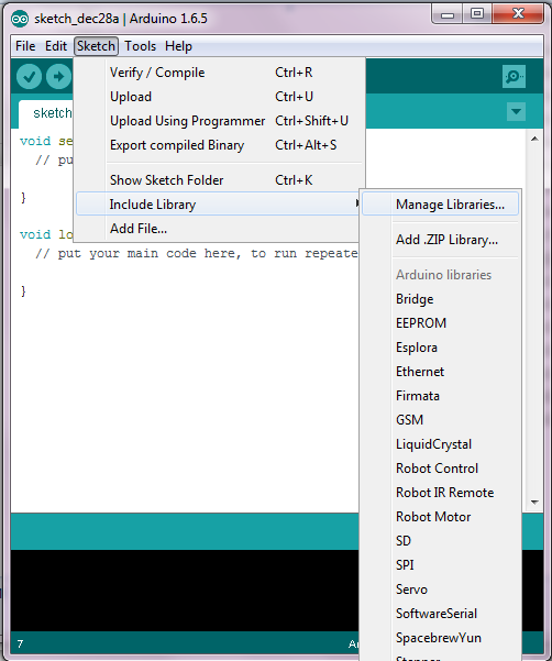 Arduino library manager download