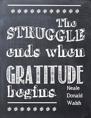 Chalk Board Printable about Gratitude