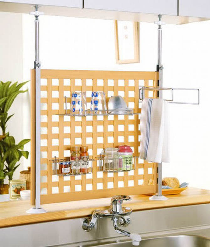 bathroom shelving storage space