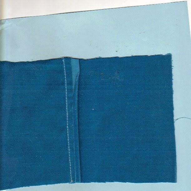 Flat-felled seam showing folded edge meets trimmed edge