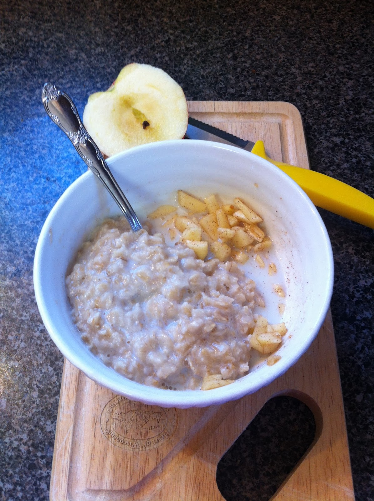 ... apple of choice 1 2 cup dry oats 1 dash cinnamon 1 dash apple pie