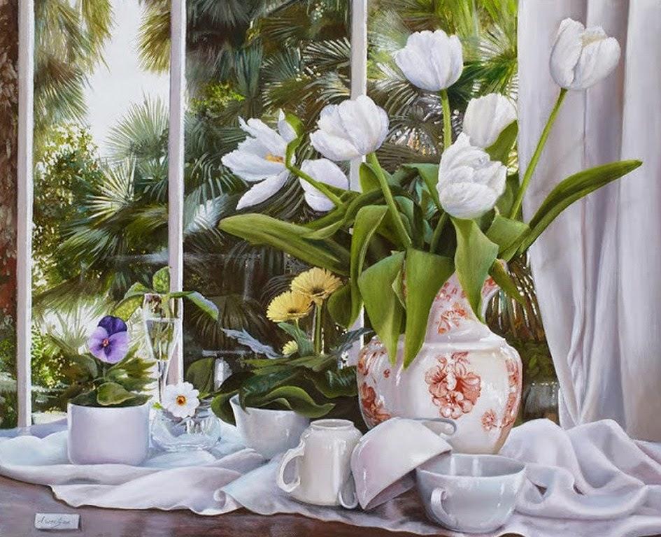 pinturas-realistas-de-flores
