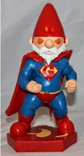 Super Gnome is Superman garden gnome