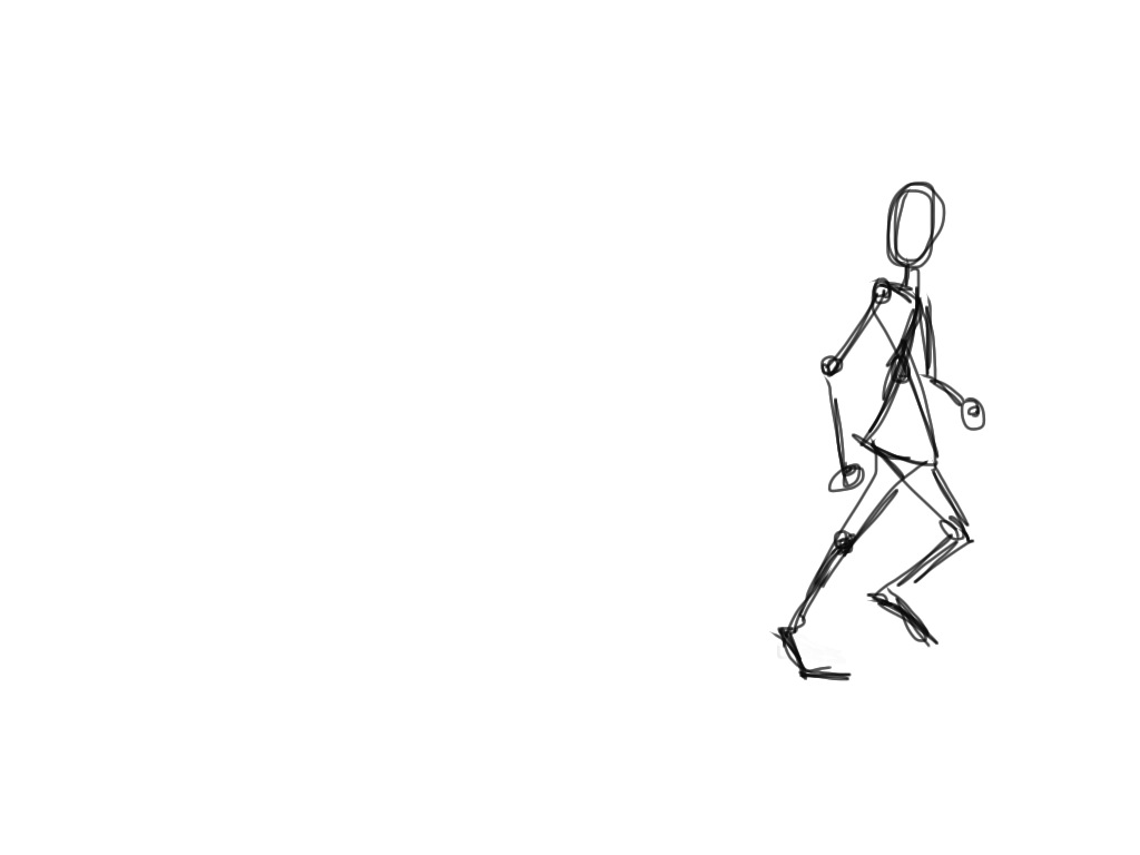 Stick Figure Running Cycle Upload these stick figures