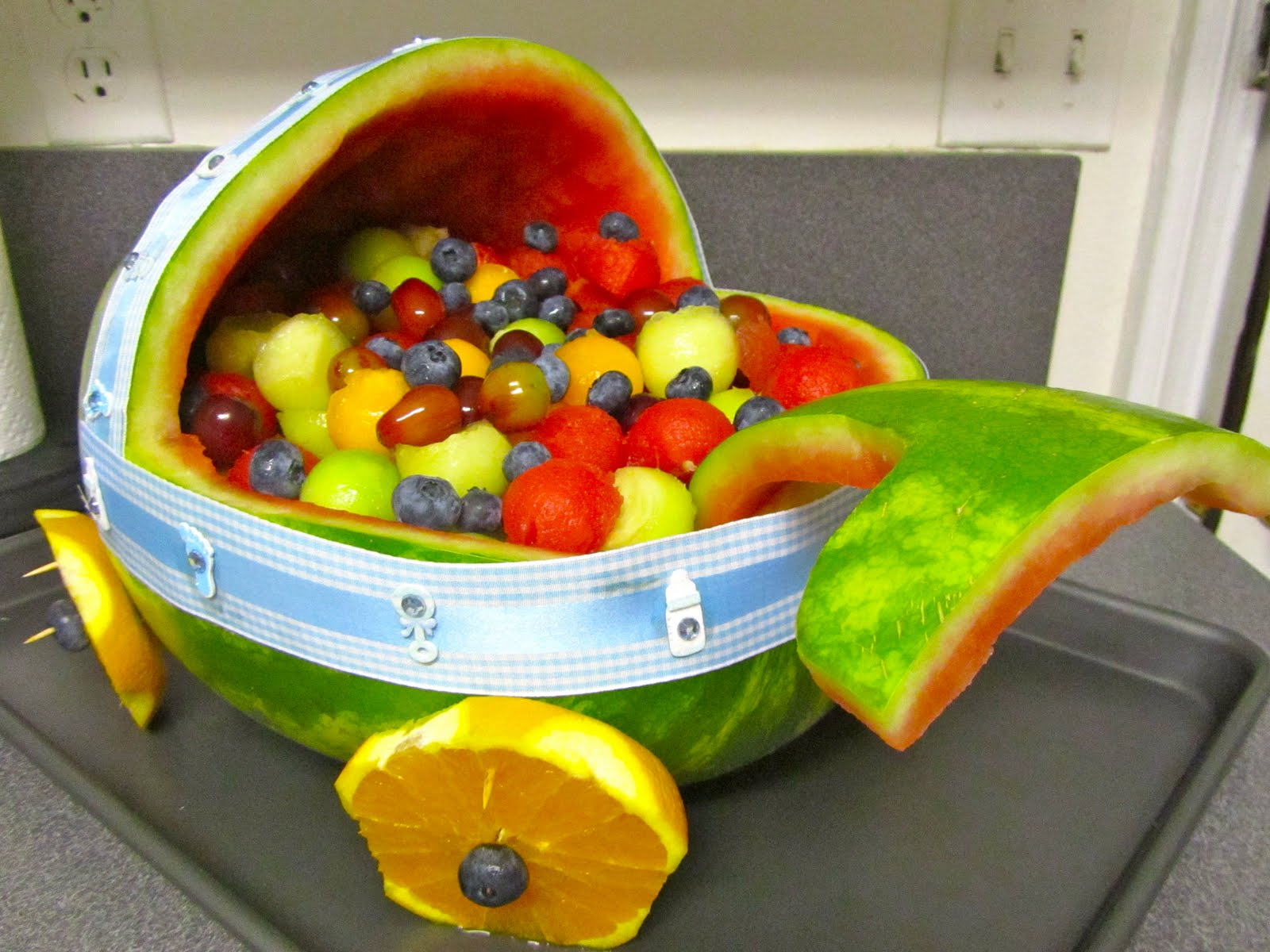 watermelon fruit bowl baby shower watermelon stroller fruit