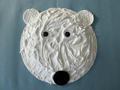 ... Paper Plate Craft. Hereu0027s another great puffy paint polar bear idea. Simple and easy and looks great. & Polar Bear Puffy Paint Paper Plate Craft | Preschool Crafts for Kids