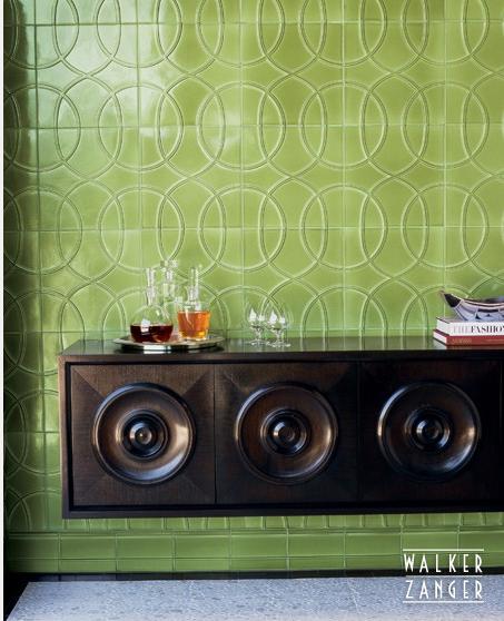 modern tile, green