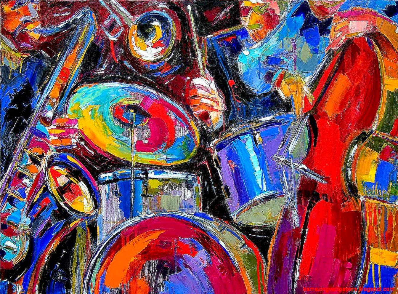 Abstract Art Musical Instruments | Amazing Wallpapers
