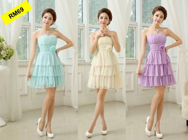 Three-Colors Three Layers Skirt Bridesmaids Dress