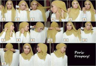 Gambar Cara Memakai Jilbab Modern Terbaru 2013
