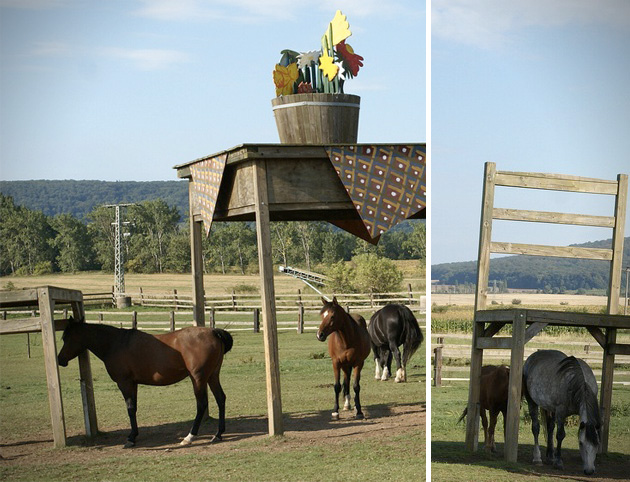 ... East Germany Created These Giant Furniture Pieces That Inadvertently  Acted As A Shelter To His Livestock. Protecting The Horses From The  Elements, ...