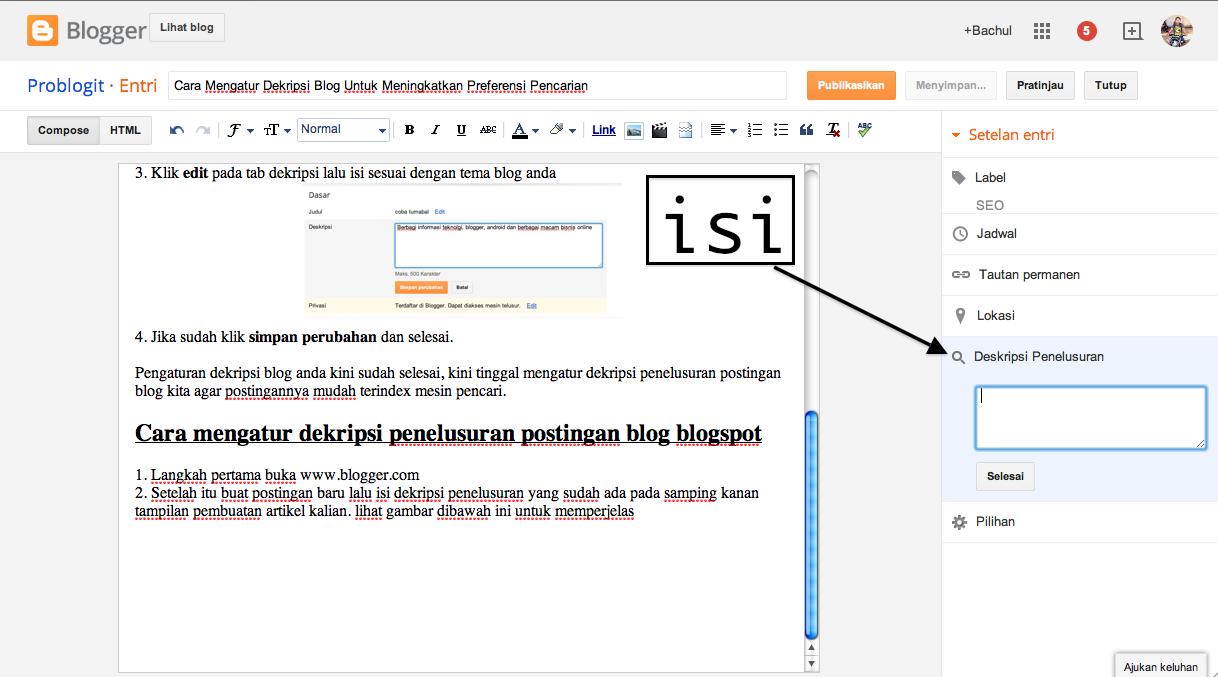 Cara Mengatur Dekripsi Blog Untuk Meningkatkan Preferensi Pencarian kedua