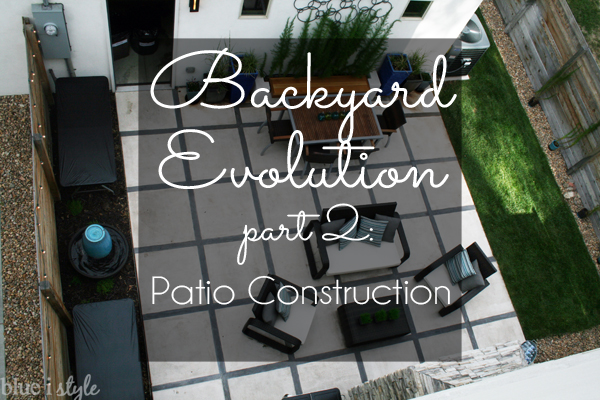 Modern Concrete Paver Patio Construction