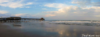 panorama cocoa beach, sunset, florida