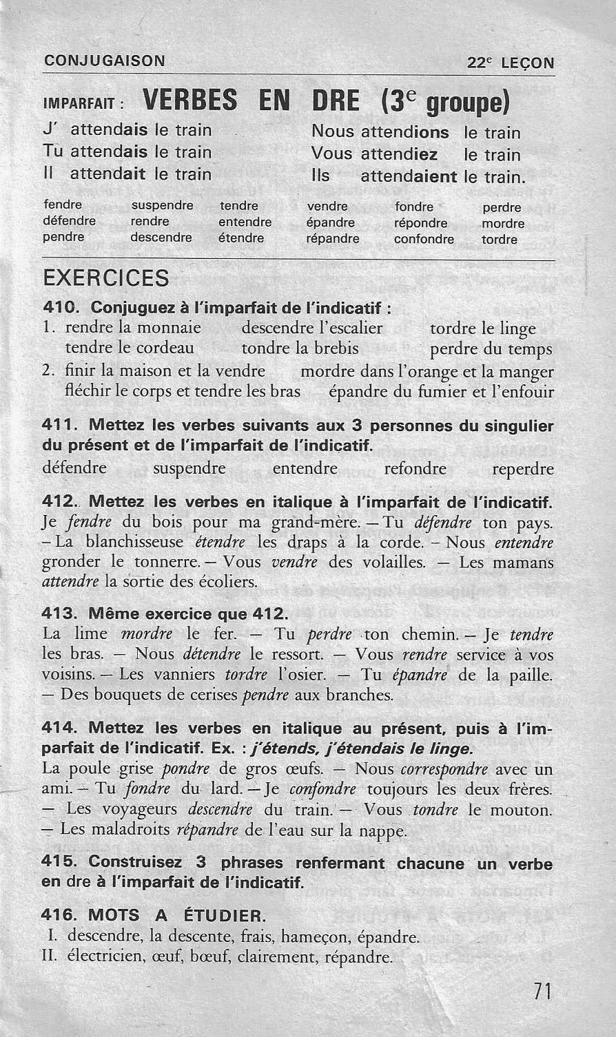 Ecole References 15 A 23 Imparfait De L Indicatif Bled Ce Cm1 Conjugaison
