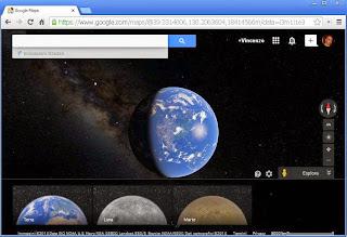 Visitare la Luna e Marte con Google Maps
