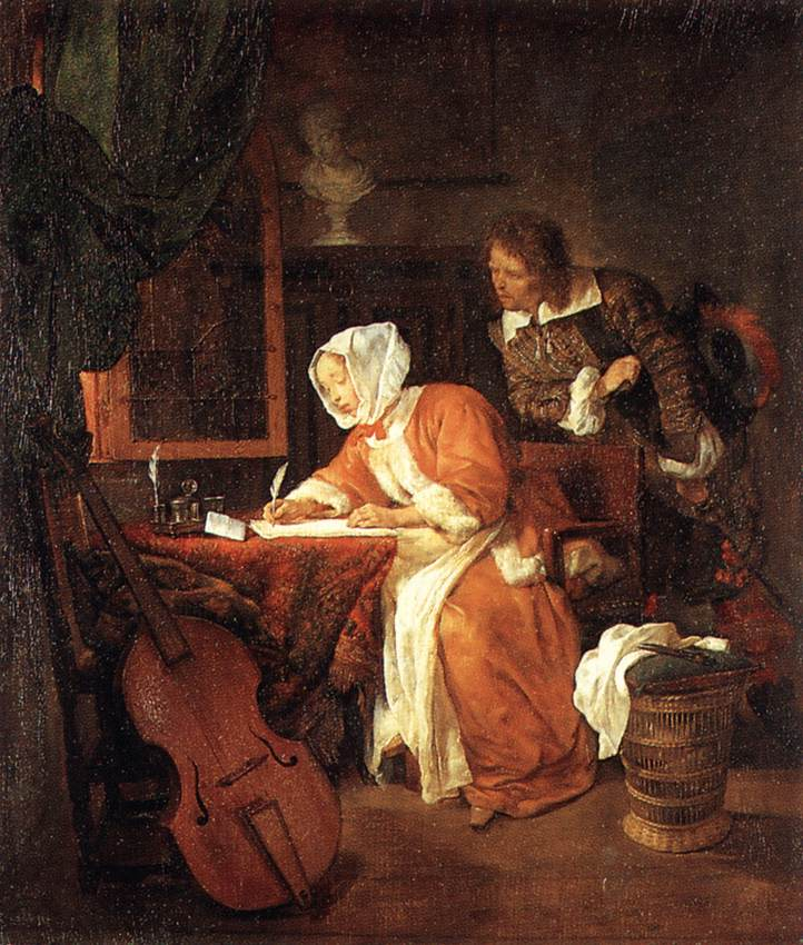 It 39 s about time 1600s women reading writing letters for Baroque period pictures