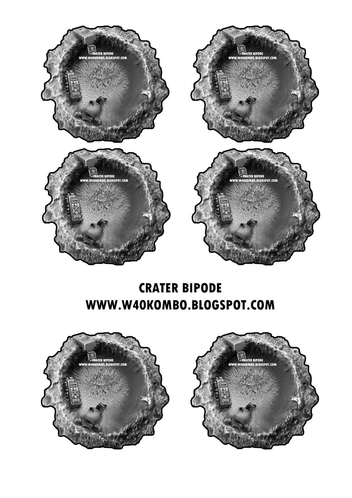 Plantillas de crateres descargables Crater+Dreadnougth+A4