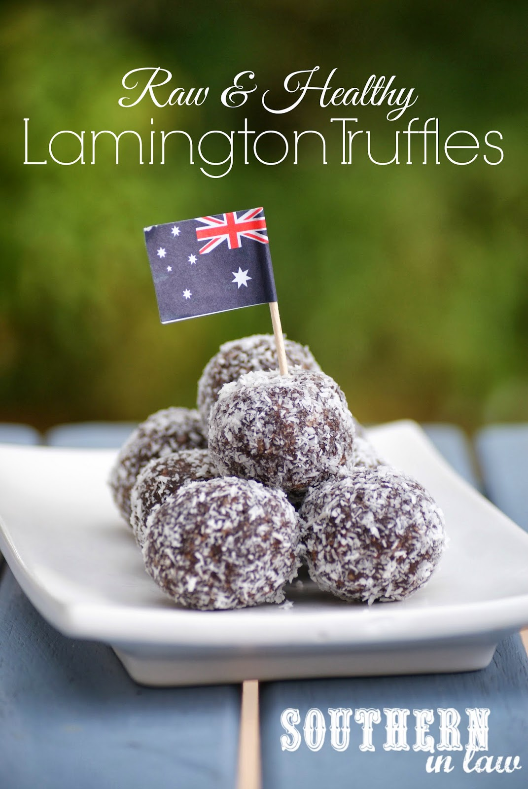 No Bake Raw Lamington Bites- Raw Chocolate Coconut Truffles - Gluten free, sugar free, vegan, clean eating friendly recipe