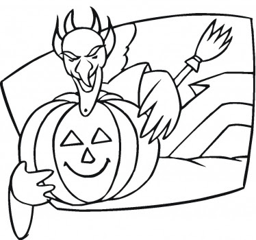 Scary Pumpkin Coloring Pages