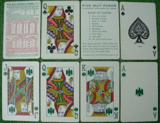 Five-suited playing cards
