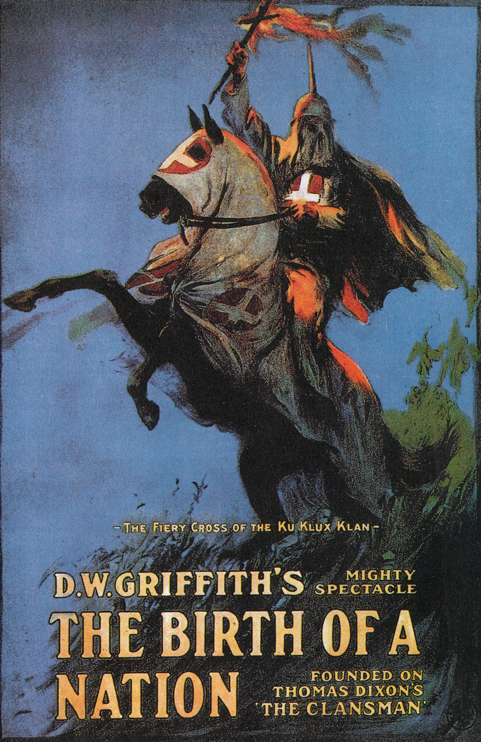 Imagen: Cartel de la película : The Birth of a Narion (DW Griffith)