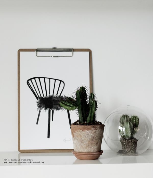 kaktusar, trender, trend, trendigt i inredningen, mode, inredningstips, inredningen, webbutik, webbutiker, webshop, nettbutikk, nettbutikker, kors, hylla, hyllor, kök, köket, lampa, grön kvist, glaskupa, poster, posters, print, prints, tavla, tavlor, stol, svart och vitt, svartvit, svartvita, modelldocka, modelldockor, trärena detaljer, trädocka, trädockor,