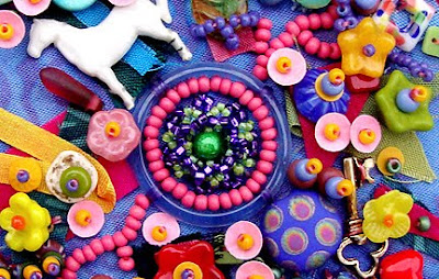 bead embroidery by Robin Atkins, BJP,Me and My Stuff, detail