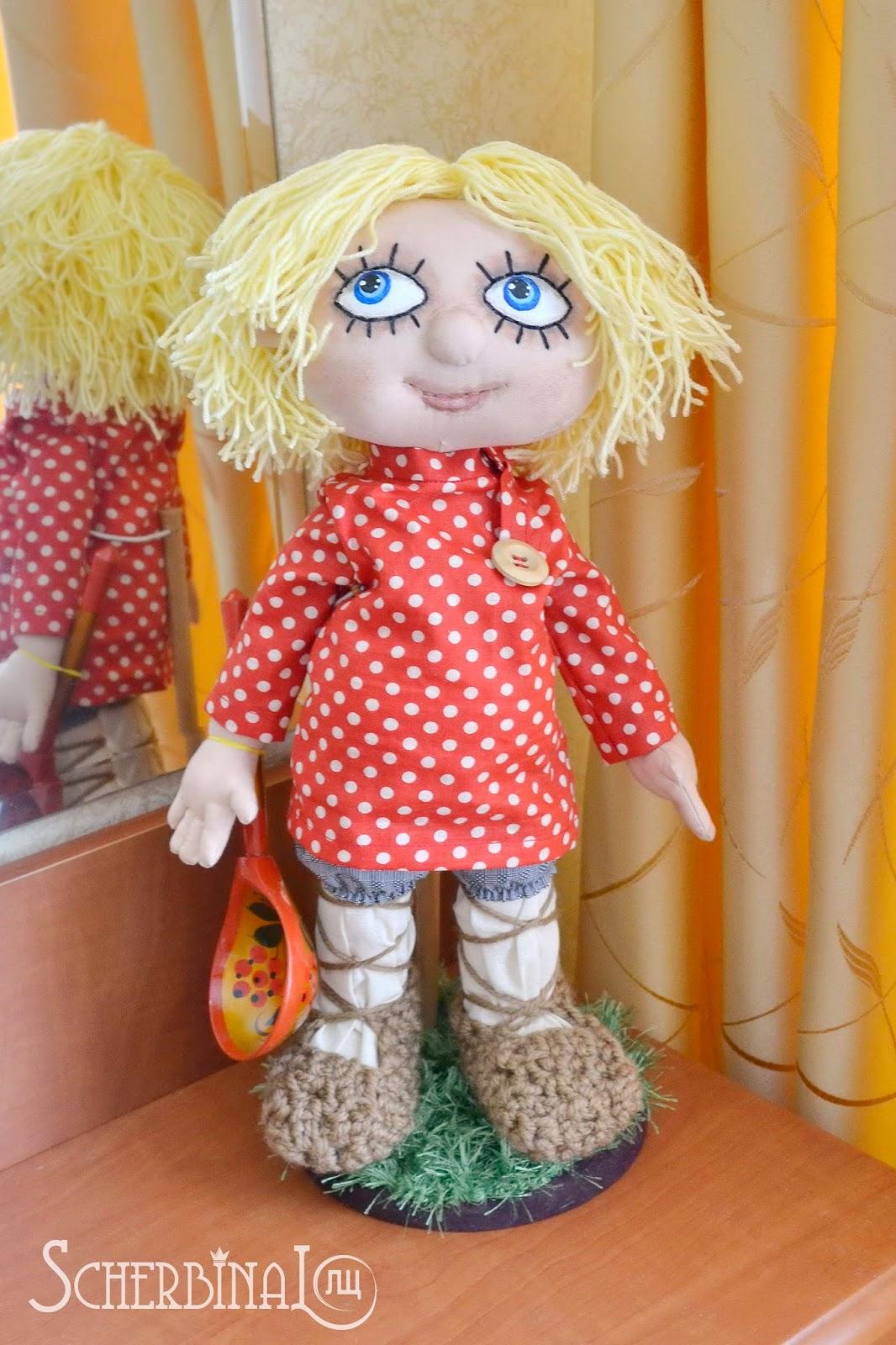 Текстильная кукла домовой Кузя